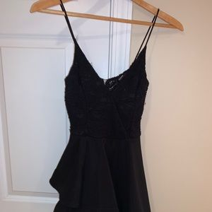 Mini Black Dress, Flowy